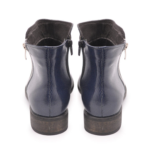 Navy blue ankle boots handmade from best quality real leather