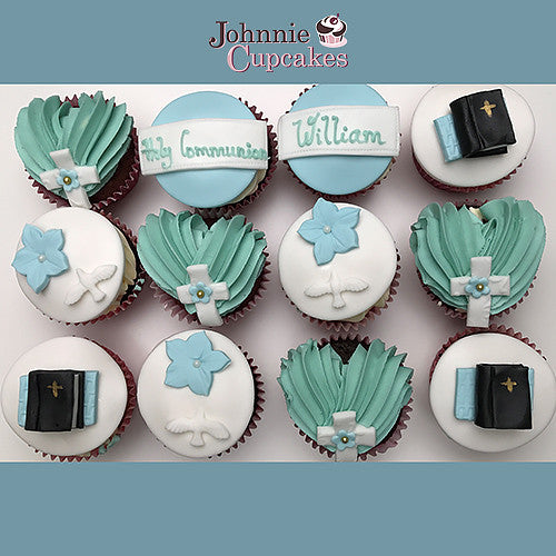 Communion and Confirmation cupcakes. - Johnnie Cupcakes