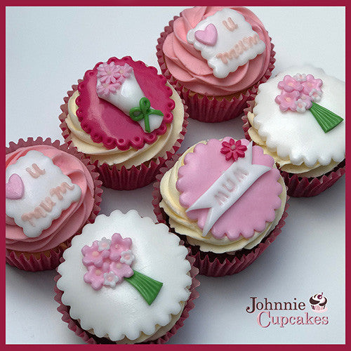 Mothers Day Cupcakes Pink - Johnnie Cupcakes