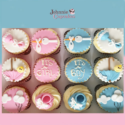 Baby Shower Cupcakes - Johnnie Cupcakes