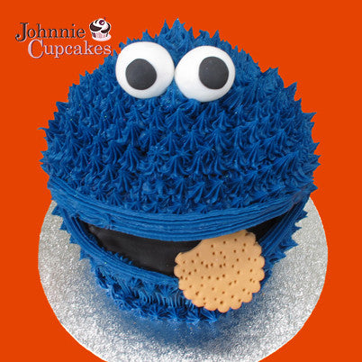 Giant Cupcake Cookie Monster - Johnnie Cupcakes