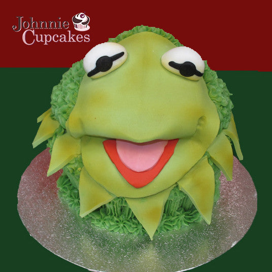 Wondrous Giant Cupcake Kermit The Frog Johnnie Cupcakes Funny Birthday Cards Online Sheoxdamsfinfo