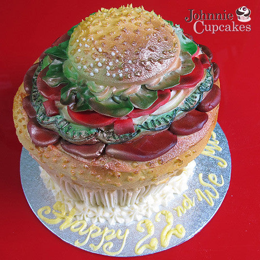 Giant Cupcake Hamburger - Johnnie Cupcakes