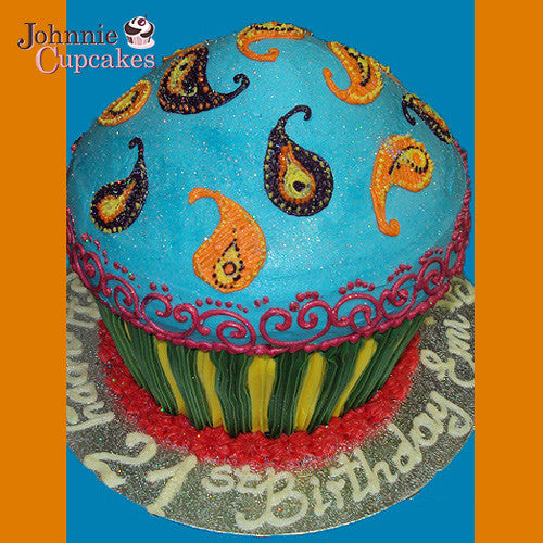 Giant Cupcake Indian - Johnnie Cupcakes