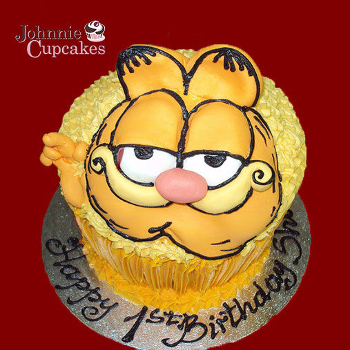 Giant Cupcake Garfield - Johnnie Cupcakes