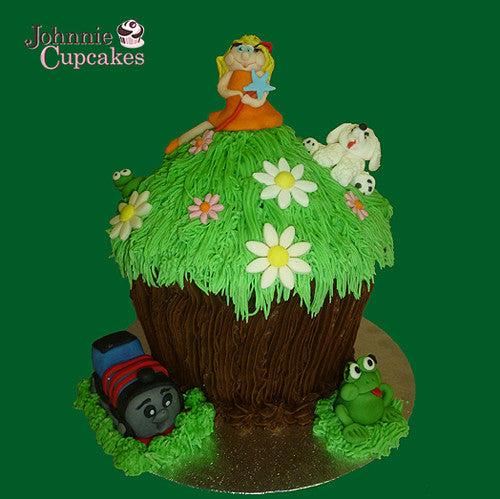 Giant Cupcake Thomas the Tank - Johnnie Cupcakes