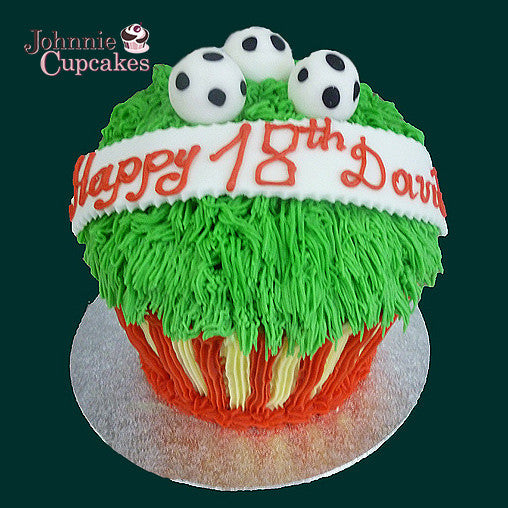 Giant Cupcake Football - Johnnie Cupcakes