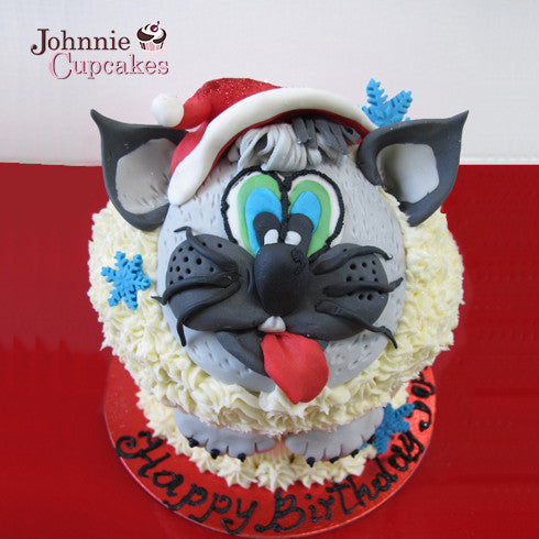 Giant Cupcake Christmas cat - Johnnie Cupcakes