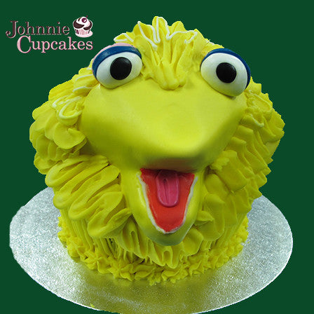 Giant Cupcake Big Bird - Johnnie Cupcakes