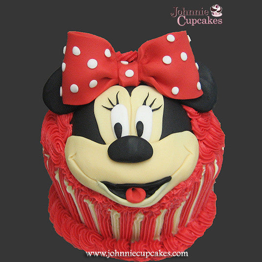 Giant Cupcake Minnie Mouse - Johnnie Cupcakes