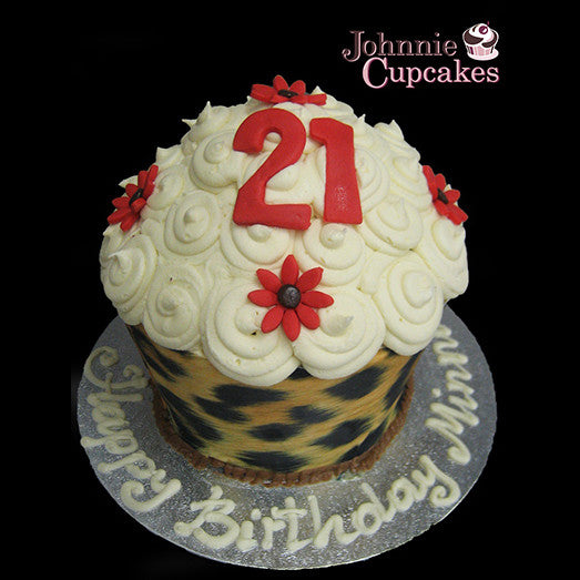 Giant Cupcake Leopard Skin - Johnnie Cupcakes