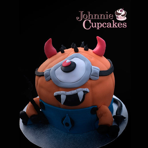 Giant Cupcake Minion Halloween - Johnnie Cupcakes
