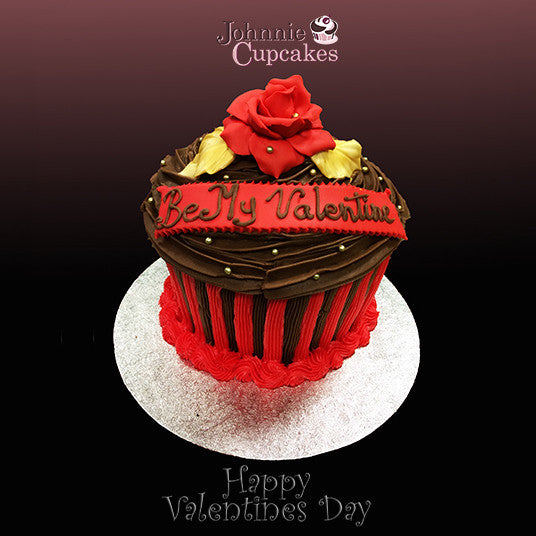 Giant Cupcake Valentines Day - Johnnie Cupcakes