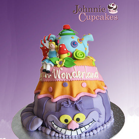 Alice in Wonderland Cake - Johnnie Cupcakes