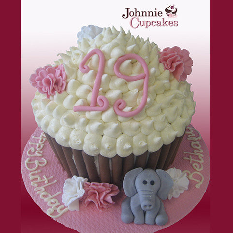 Giant Cupcake Birthday - Johnnie Cupcakes