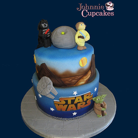2 Tier Star Wars Cake - Johnnie Cupcakes