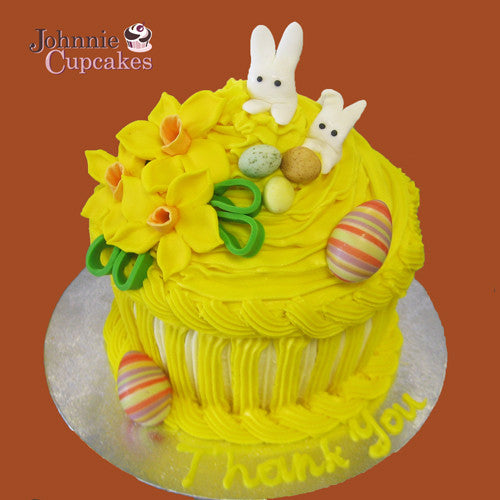 Giant Cupcake Easter - Johnnie Cupcakes