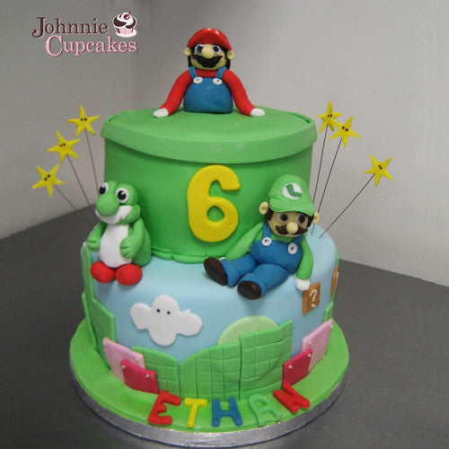Awe Inspiring Mario Brothers Birthday Cakes Johnnie Cupcakes Funny Birthday Cards Online Bapapcheapnameinfo