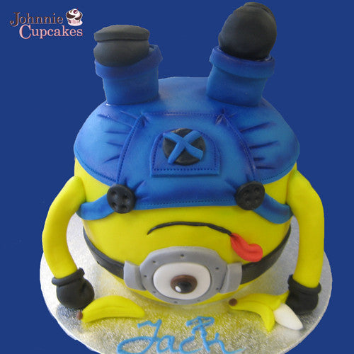 Giant Cupcake Minion upside down