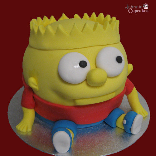 Giant Cupcake Simpsons - Johnnie Cupcakes