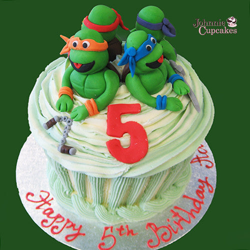Giant Cupcake Ninja Turtles - Johnnie Cupcakes