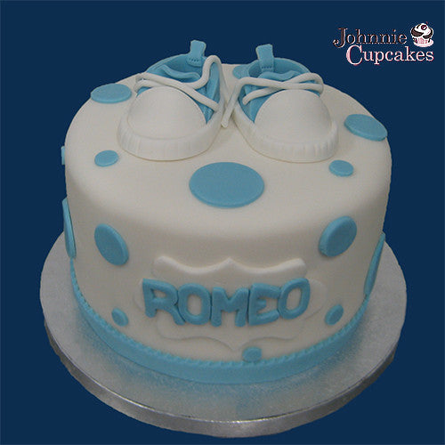 Baby Shower Shoes Cake