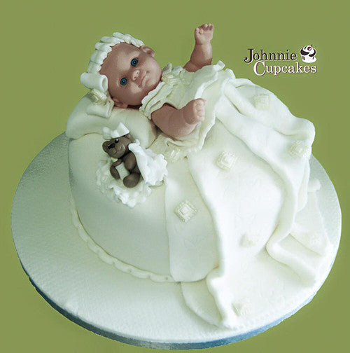 Christening Cake Baby and teddy