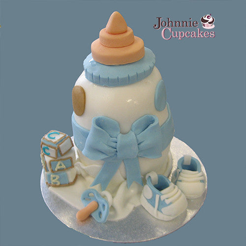 Baby Bottle Cake - Johnnie Cupcakes