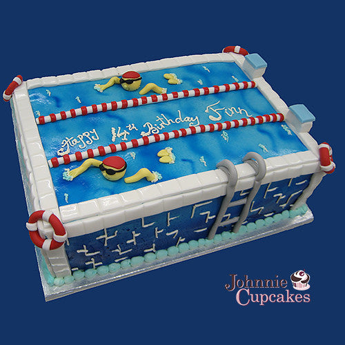 Swimming Pool Cake - Johnnie Cupcakes
