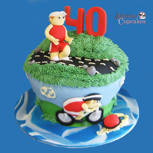 Triathlon Theme Cake