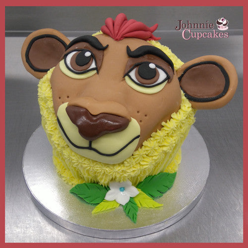 Admirable Simba Lion King Cake Johnnie Cupcakes Funny Birthday Cards Online Fluifree Goldxyz