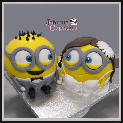 Minion wedding cakes - Johnnie Cupcakes