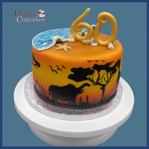 Outstanding Safari Theme Cake Johnnie Cupcakes Funny Birthday Cards Online Chimdamsfinfo