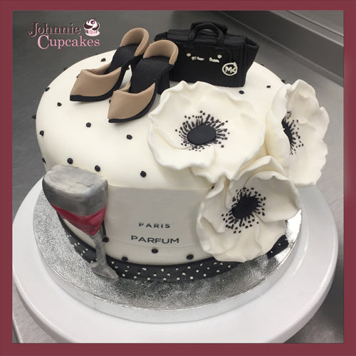 Excellent Fashion Cake Johnnie Cupcakes Funny Birthday Cards Online Overcheapnameinfo
