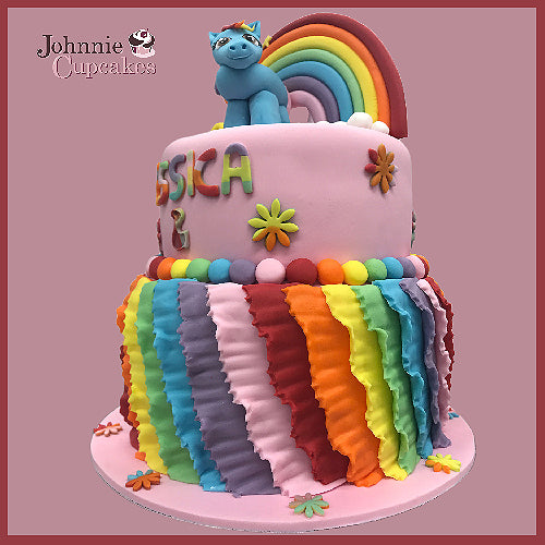 My Little Pony Rainbow Cake - Johnnie Cupcakes