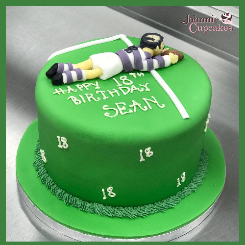 Rugby Cake - Johnnie Cupcakes