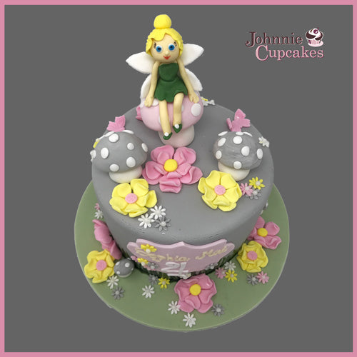 Fairy on a Flowers Cake - Johnnie Cupcakes