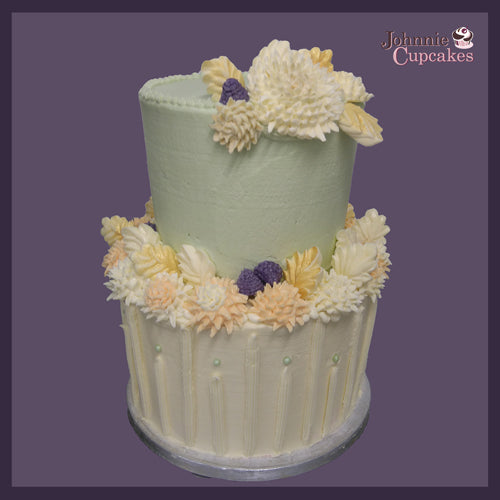 Flowers Cake 2 Tier - Johnnie Cupcakes