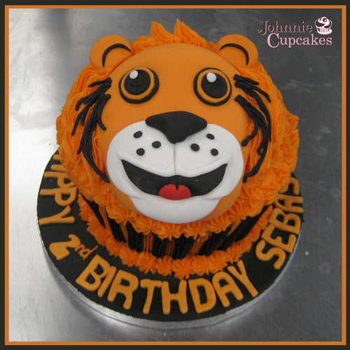 Tiger Head Cake - Johnnie Cupcakes
