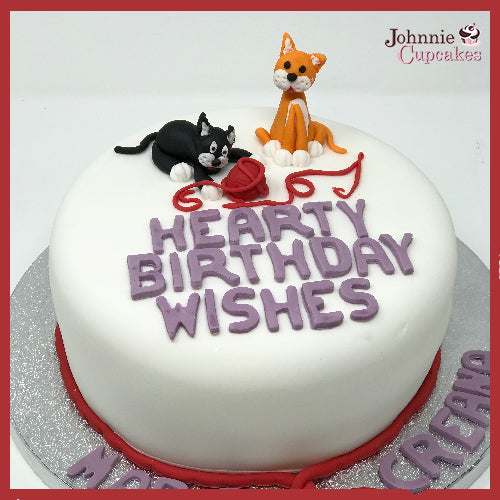 Surprising Cats And Wool Cake Johnnie Cupcakes Funny Birthday Cards Online Unhofree Goldxyz