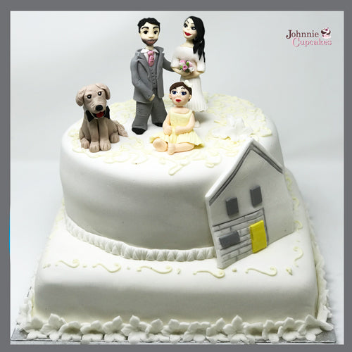 Wedding Cake Family - Johnnie Cupcakes