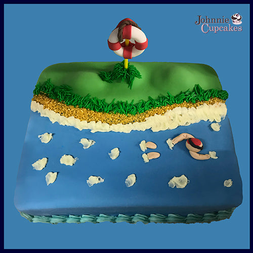 Swimming Cake - Johnnie Cupcakes