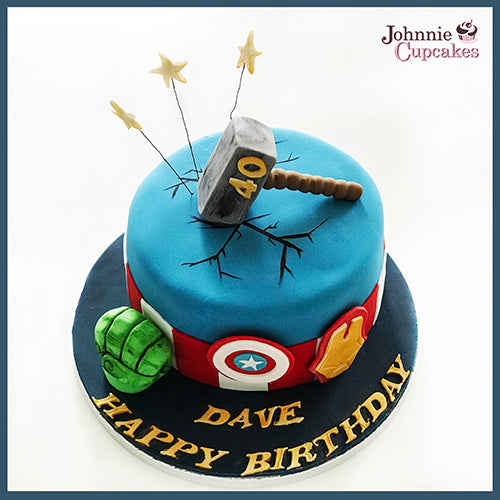 Personalised Birthday Cake - Johnnie Cupcakes