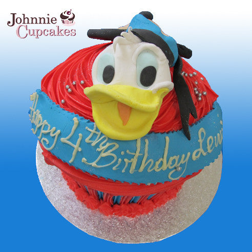 Giant Cupcake Donald Duck - Johnnie Cupcakes