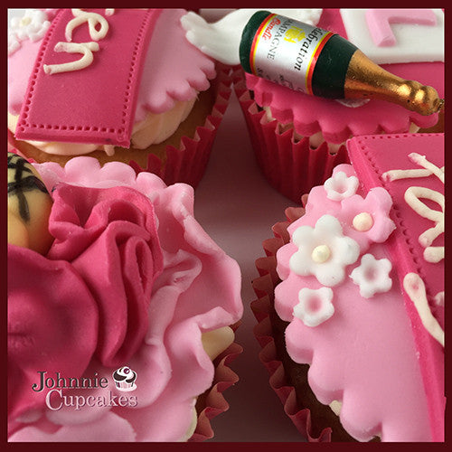 Hen Party cupcakes pink - Johnnie Cupcakes
