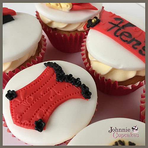 Hen Party cupcakes red. - Johnnie Cupcakes
