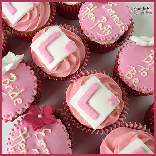 & Hen Party cupcakes L plate. - Johnnie Cupcakes