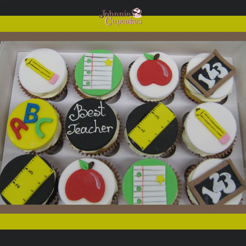Teacher Cupcakes - Johnnie Cupcakes