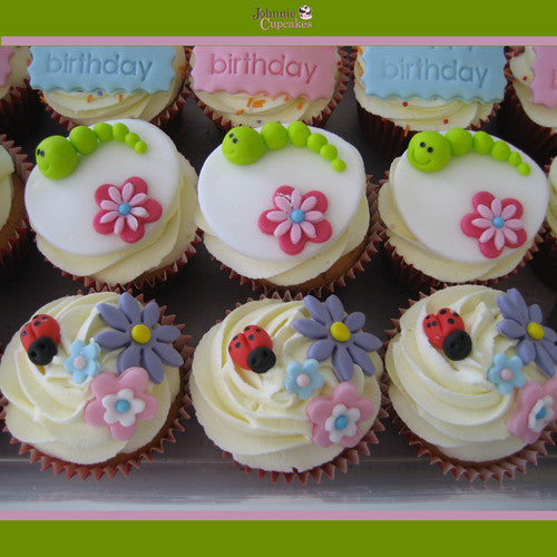 Happy Birthday Cupcakes Flowers. - Johnnie Cupcakes