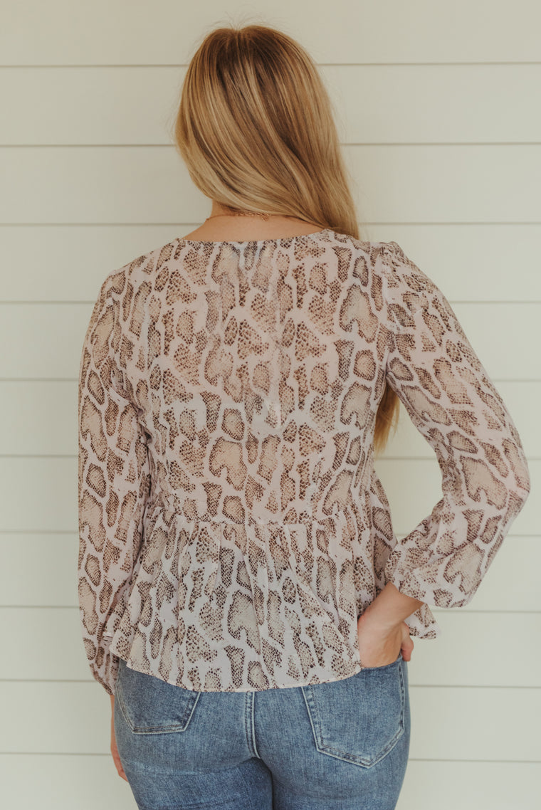 OU: Leopard & Floral Tee - J. Lilly's Boutique